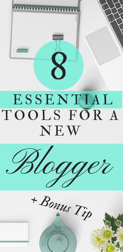 Just starting a blog? These 8 tools will fast track your first month of Blogging. These are the tools that you need to succeed, from day one of your blog. I wish had this list when I started my blog. If you are already blogging, do you already use all of this? Because you should be. #Blog #Blogging #StartABlog #GrowYourBlog #BloggerEssentials #HowToStartABlog #NewBlog #NewBlogger #StartBlogging